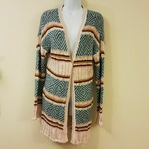 Hippie Rose Pink Open Front Cardigan Sweater